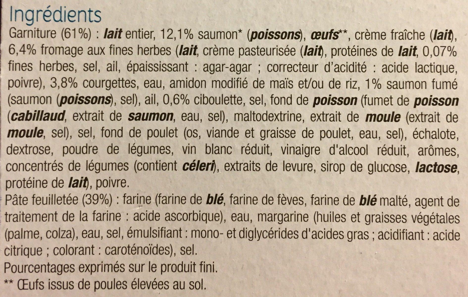 Tarte saumon et au fromage frais - Ingrédients - fr