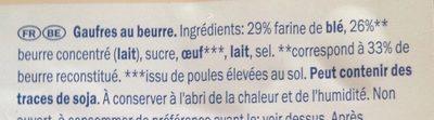 Gaufres au beurre - Ingrediënten