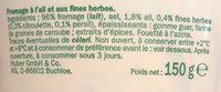 Ail & fines herbes - Ingrediënten