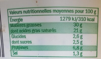 Fromage à tartiner - Nutrition facts - fr