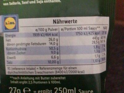 Hollandaise Sauce - Valori nutrizionali - de