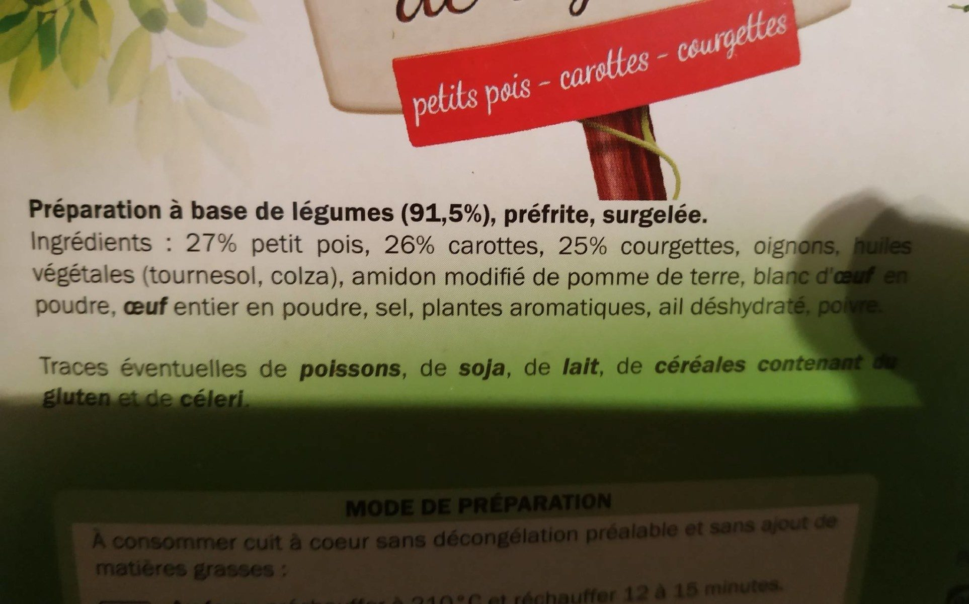 8 palets de légumes - Ingredients - fr