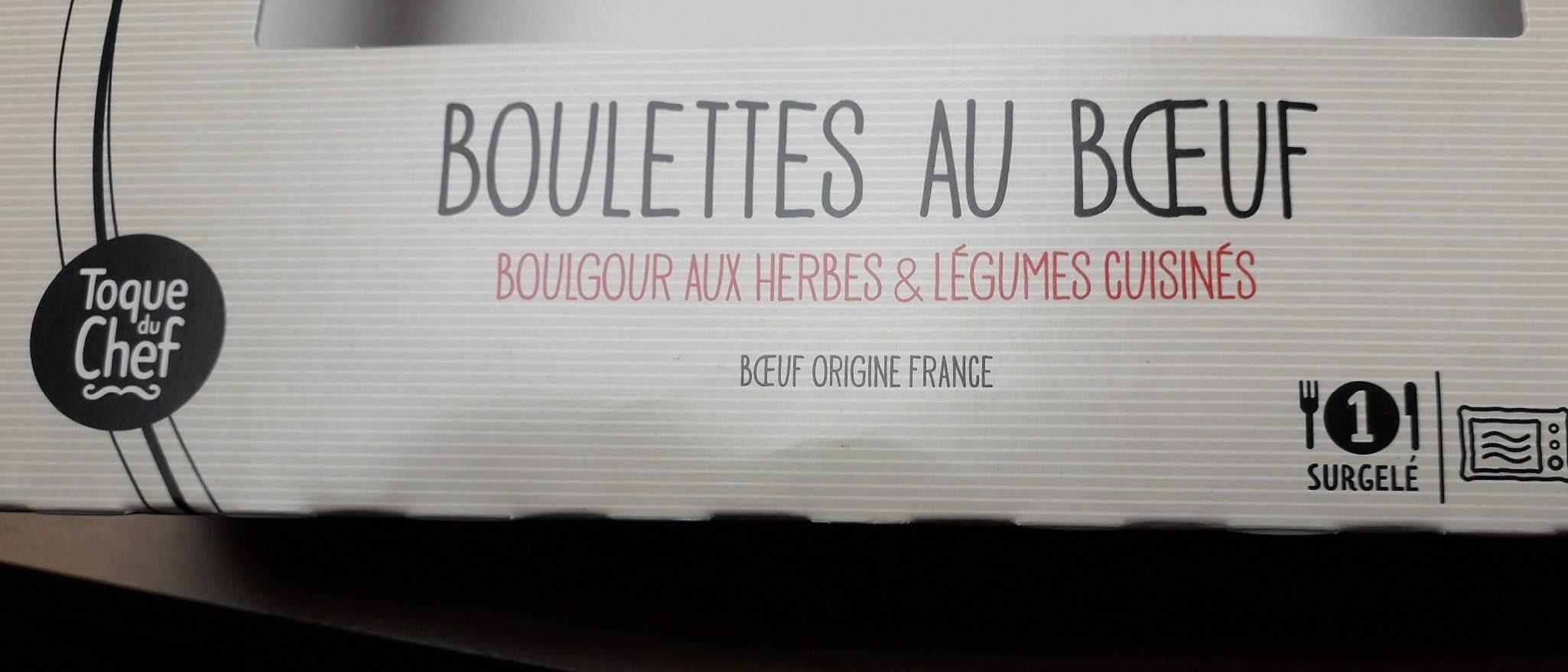 Boulettes au boeuf, Boulgour aux herbes - Produit - fr