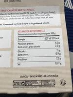 Boulettes au boeuf, Boulgour aux herbes - Informations nutritionnelles - fr