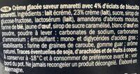 Glace Crème Et Amaretto - Ingrédients - fr