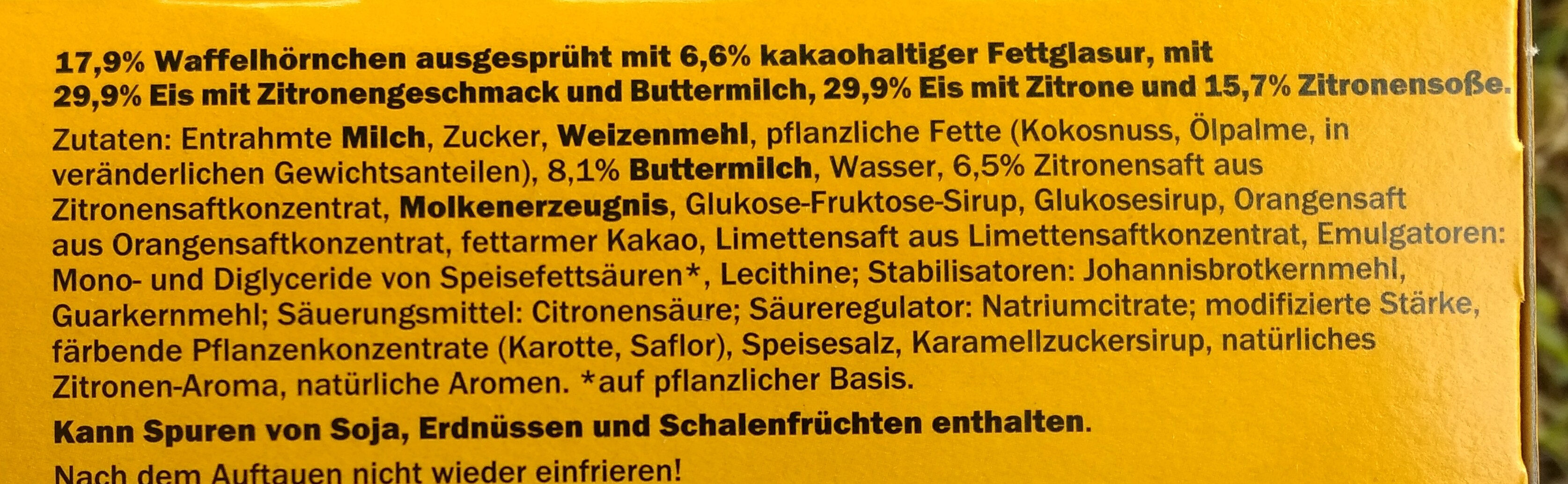 Buttermilch-Zitrone Hörnchen - Zutaten - de