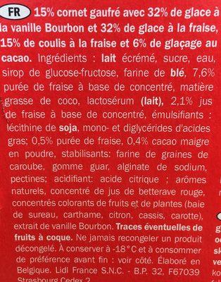 Erdbeer Vanille, Gelatelli - Ingredientes
