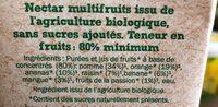 Nectar multifruits Bio - Ingrédients - fr