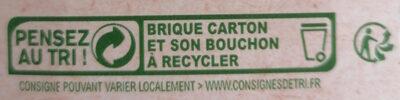 Nectar multifruits Bio - Instruction de recyclage et/ou informations d'emballage - fr