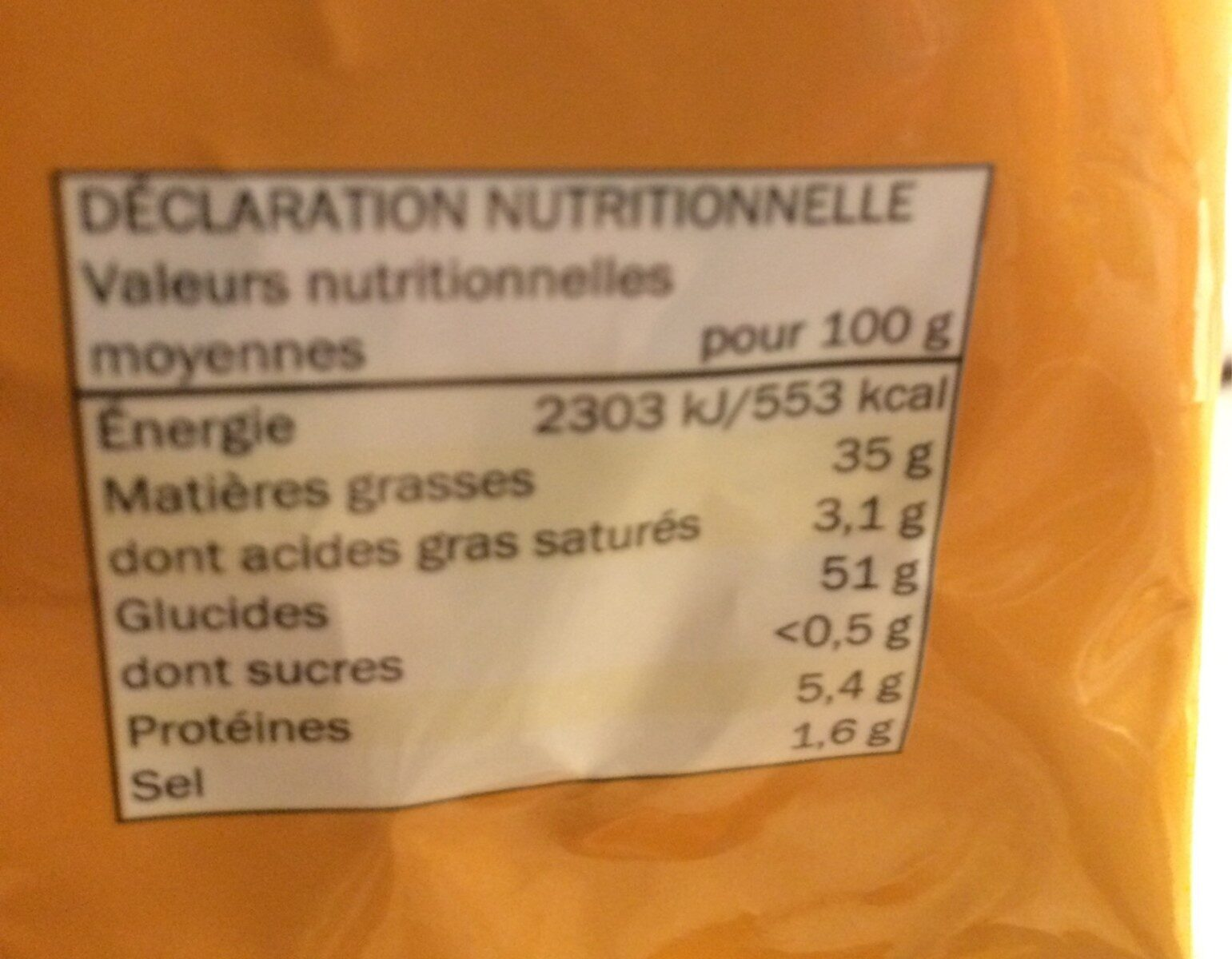Snack Day Saveur Fromage - Informations nutritionnelles - fr