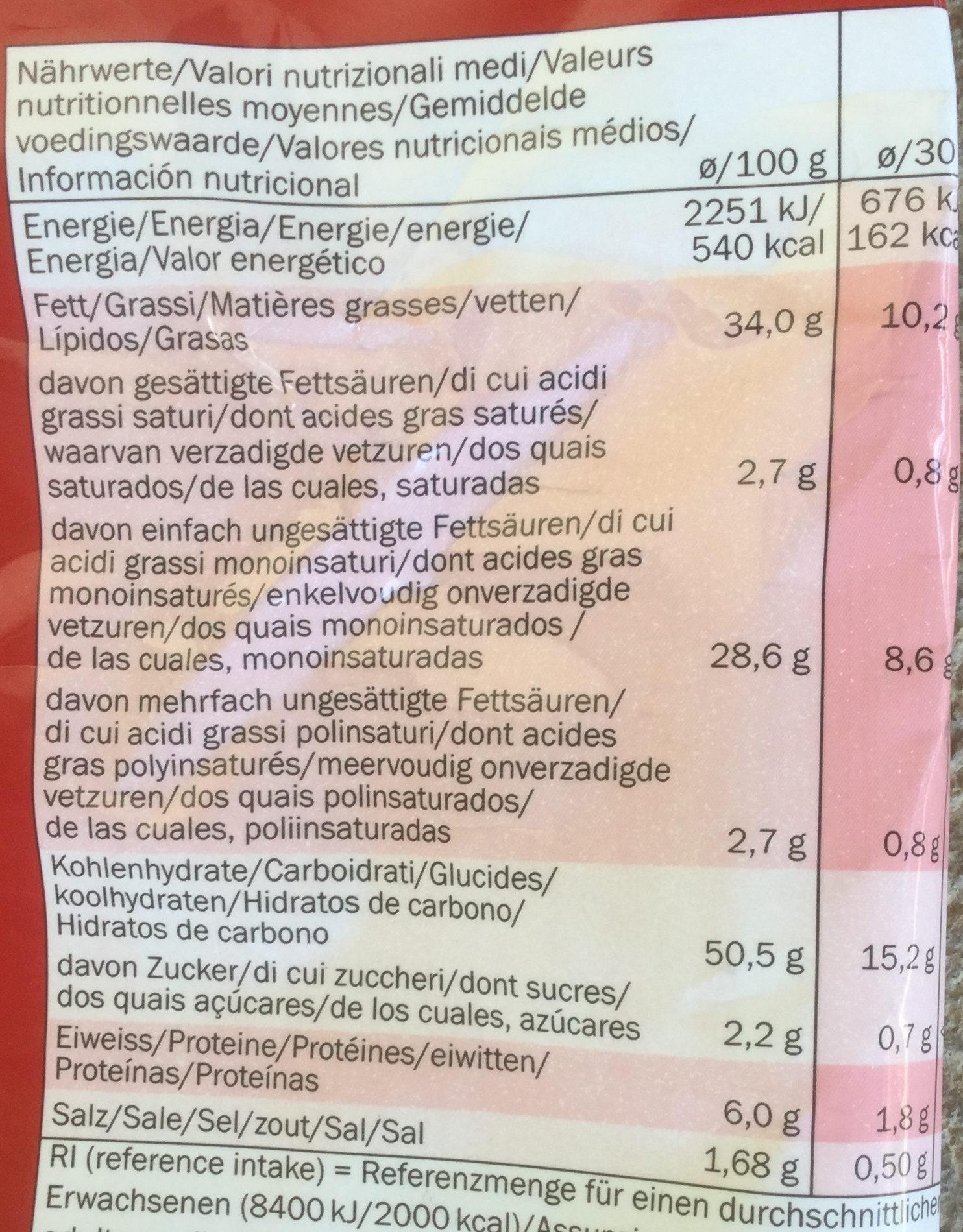 Crusti Croc Chips, Paprika - Informations nutritionnelles