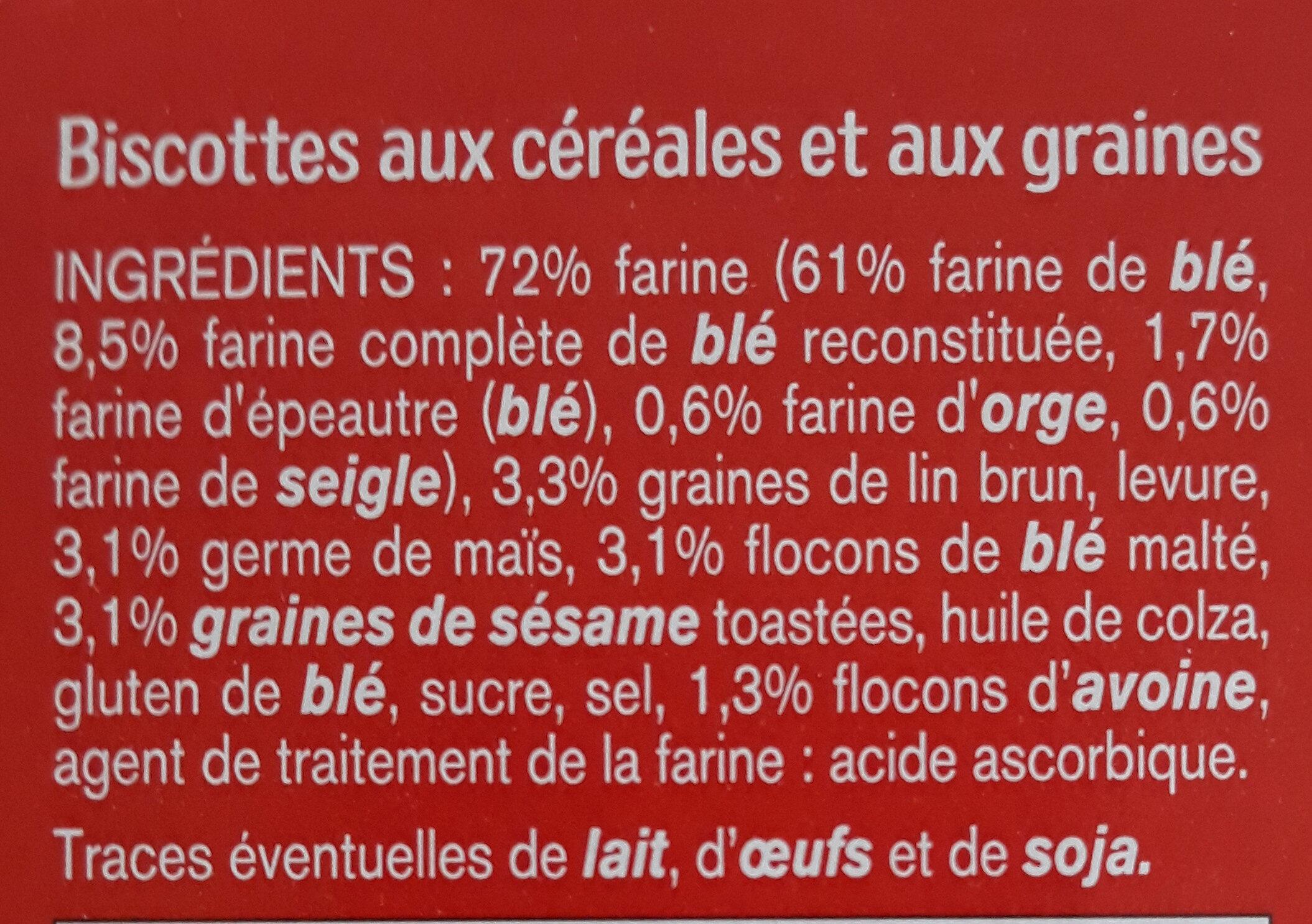 Biscottes - 成分 - fr