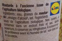 moutarde à l'ancienne bio - Ingredienti - fr
