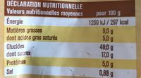 8 mini chinois - Informations nutritionnelles - fr