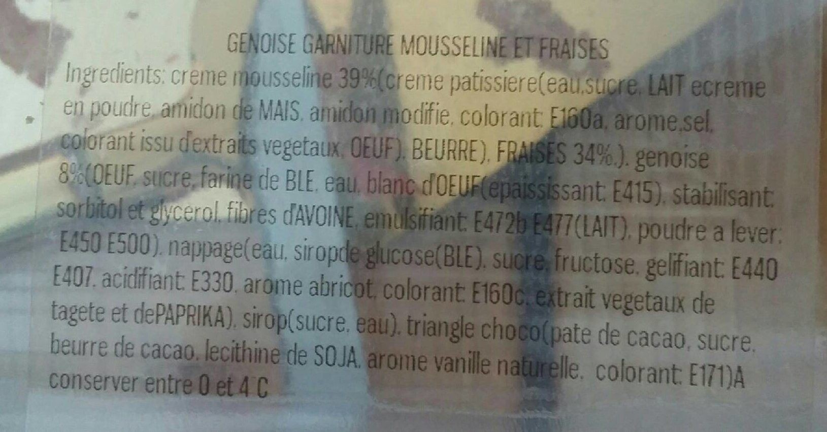 Fraisier - Ingrédients - fr