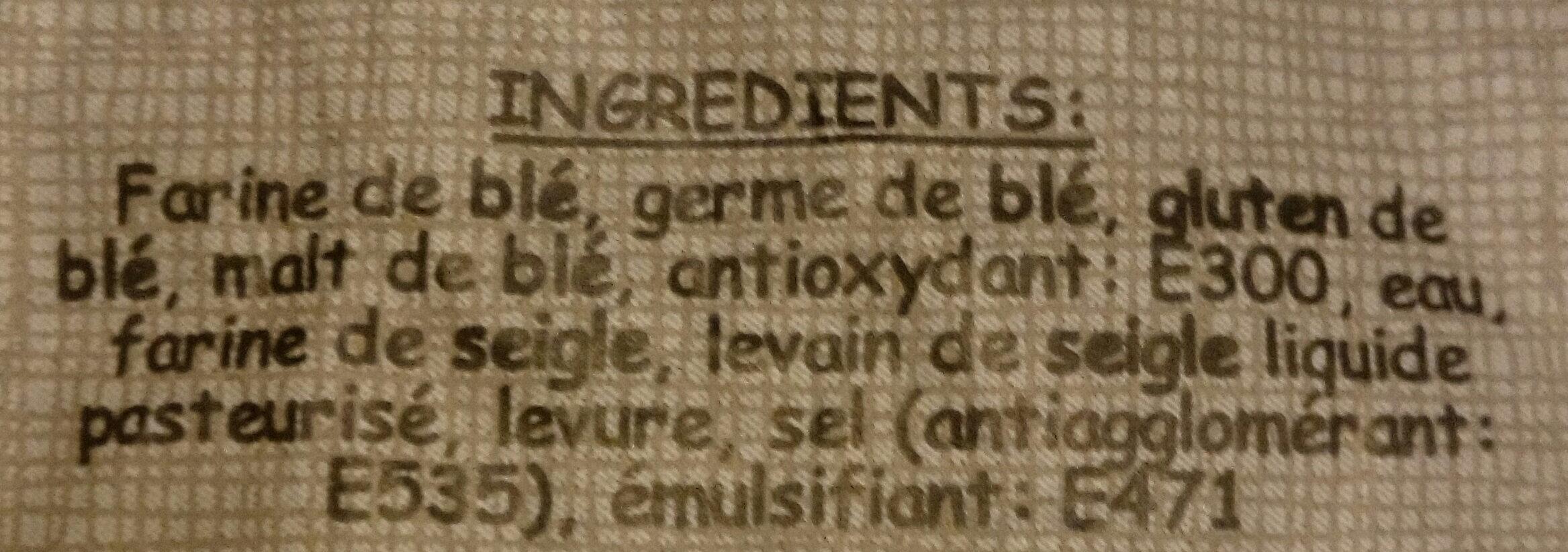 Baguette mont d'or - Ingrediënten