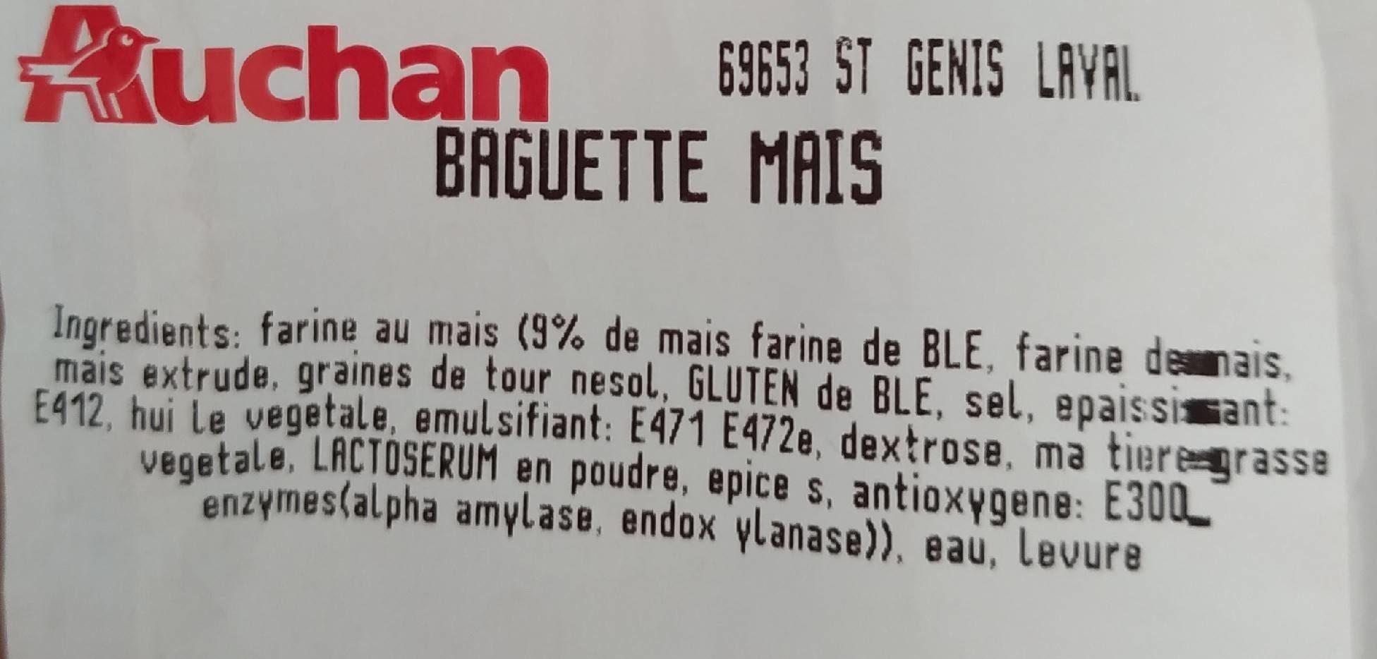 Baguette maïs - Ingredienti - fr