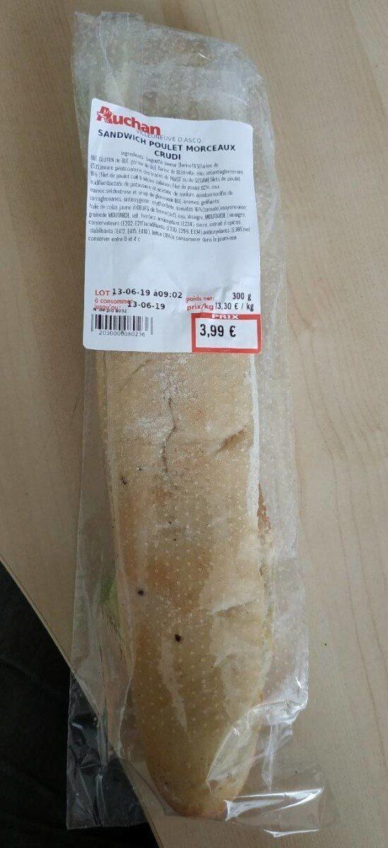 Sandwich Poulet Morceaux Crudi - Prodotto - fr