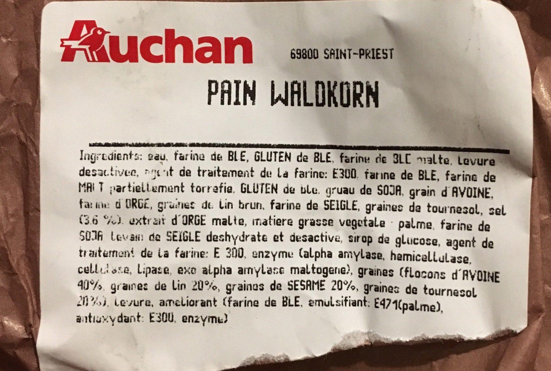 Pain Waldkorn Entier 300g - Ingrédients - fr