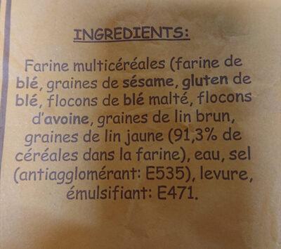 baguette multicéréales - Ingrédients - fr