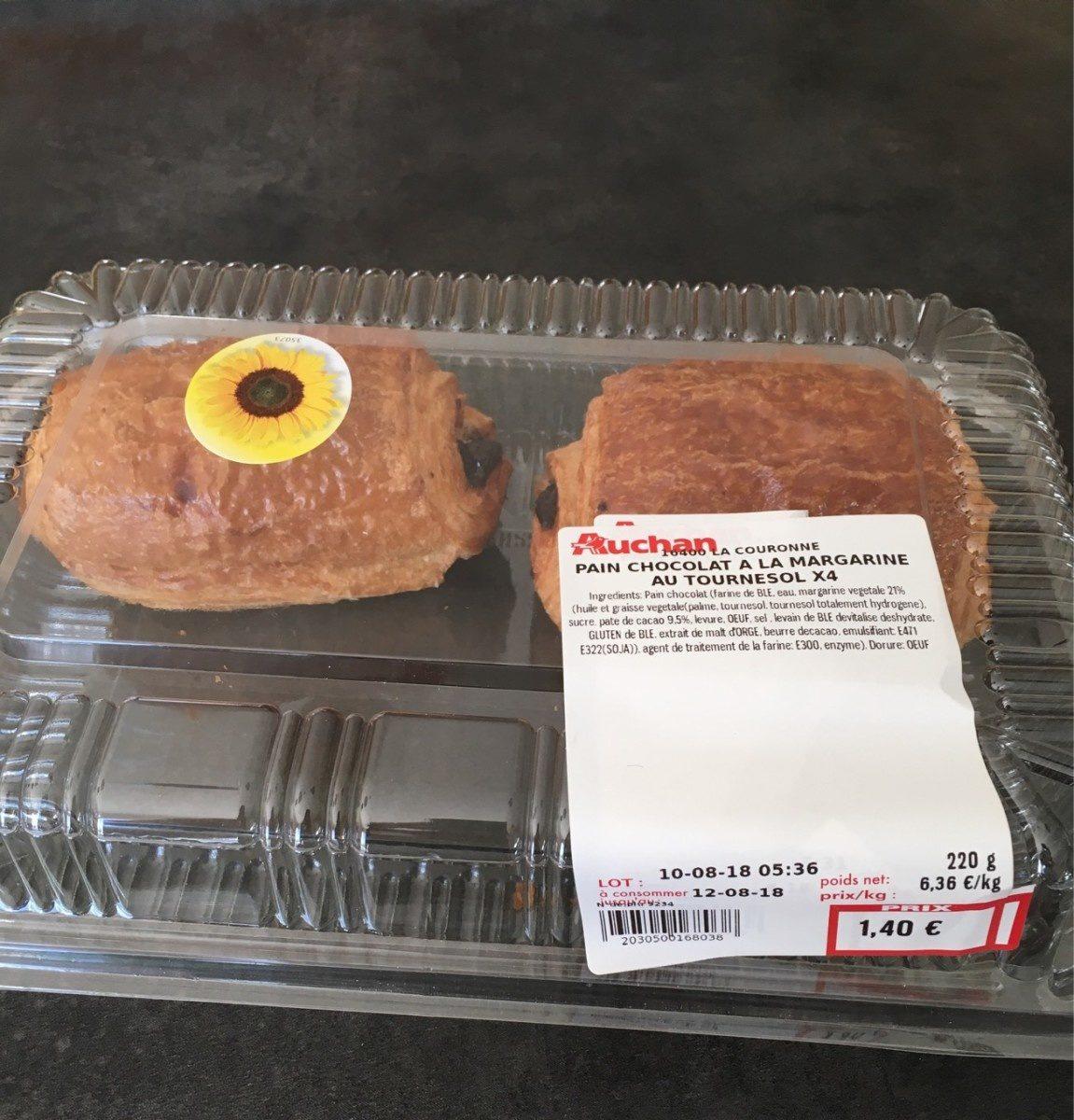 Pain au chocolat a la margarine au tournesol x4 - Product