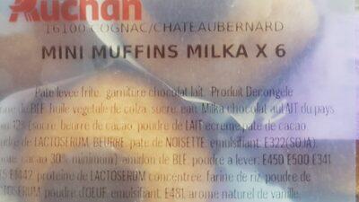 Mini muffins - Ingrédients - fr