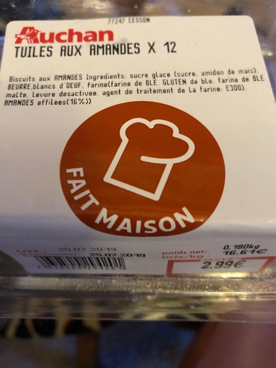 Tuiles aux amandes - Product - fr