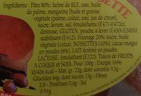 Beignets au Chocolat Sucrés ou Dorés - Ingredients - fr