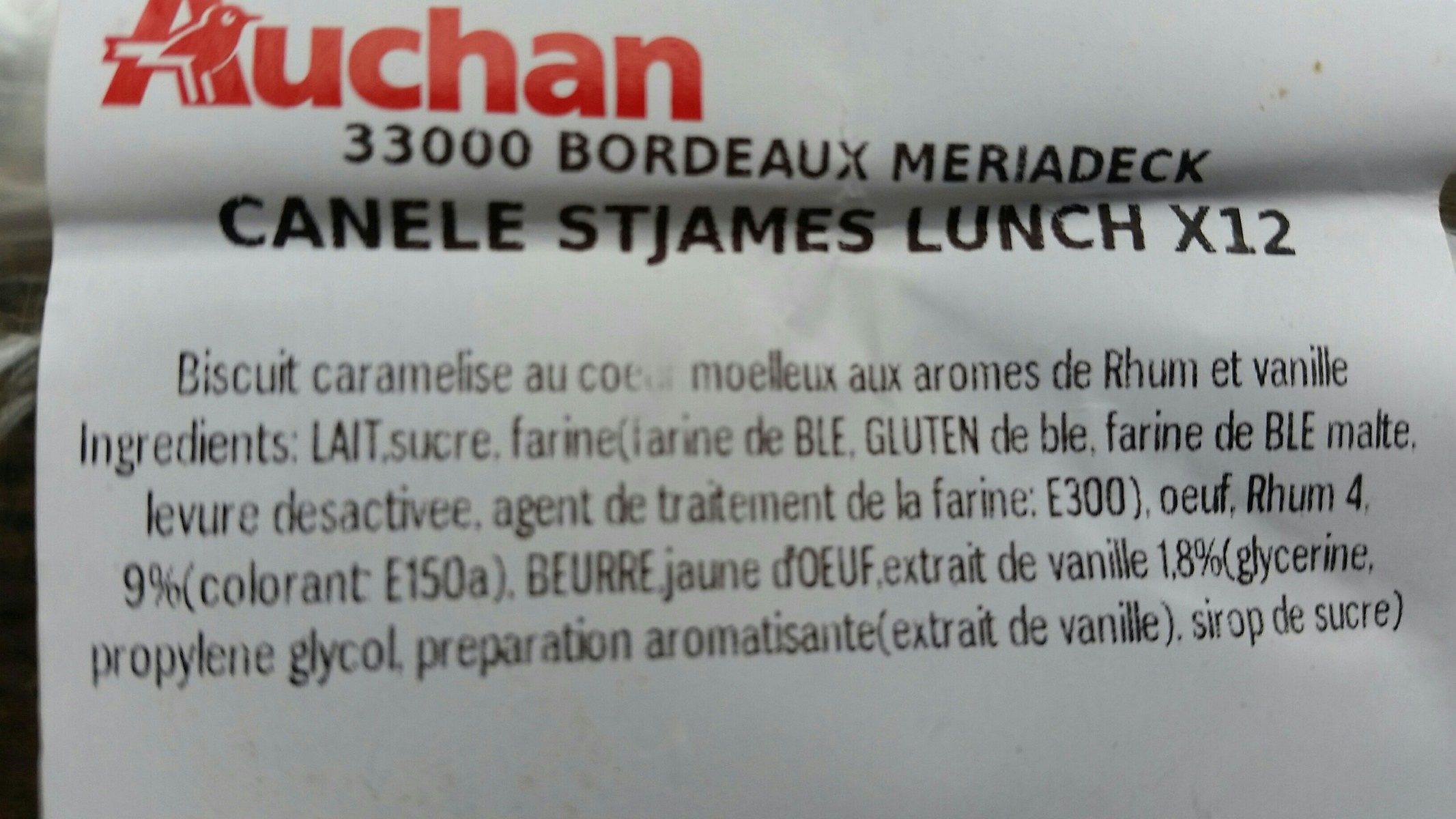Canelé Saint-James - Ingrédients