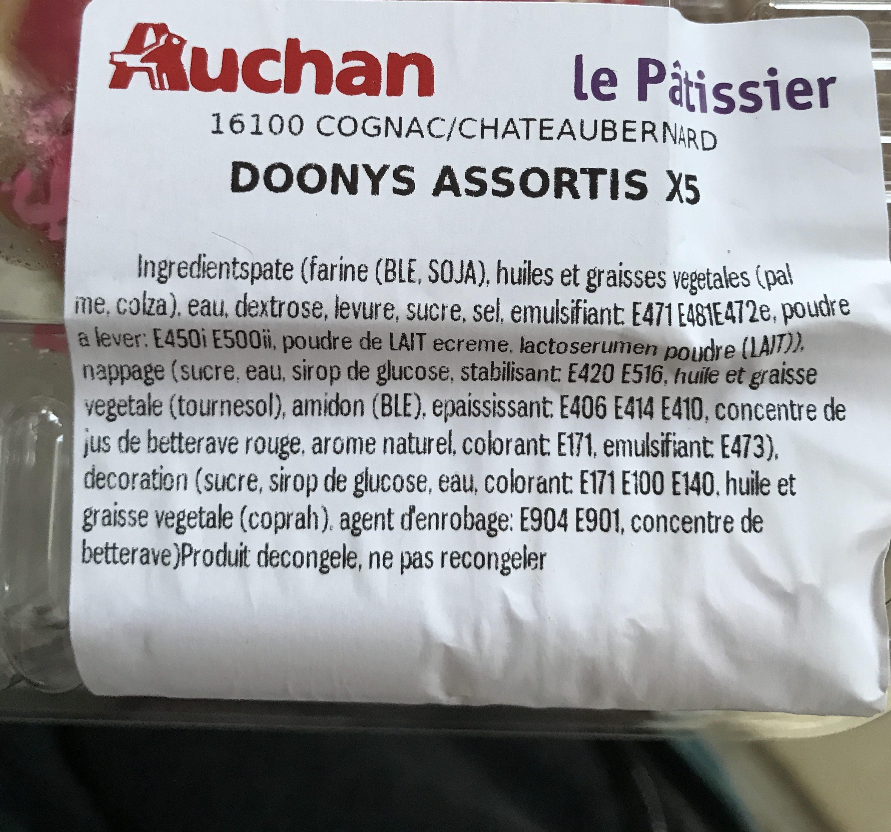 Doonys assortis - Ingrediënten - fr