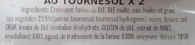 Croissants au Tournesol ×2 - Ingrédients