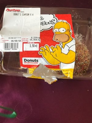 Donuts brown glazed - Voedingswaarden - fr