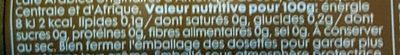 Dosettes de Café - Informations nutritionnelles - fr