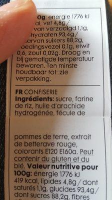 Decoration Heart in Sugar - Ingredients