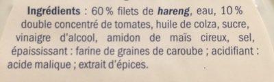 Heringsfilet In Tomatensauce / Fischerstolz - Ingredients