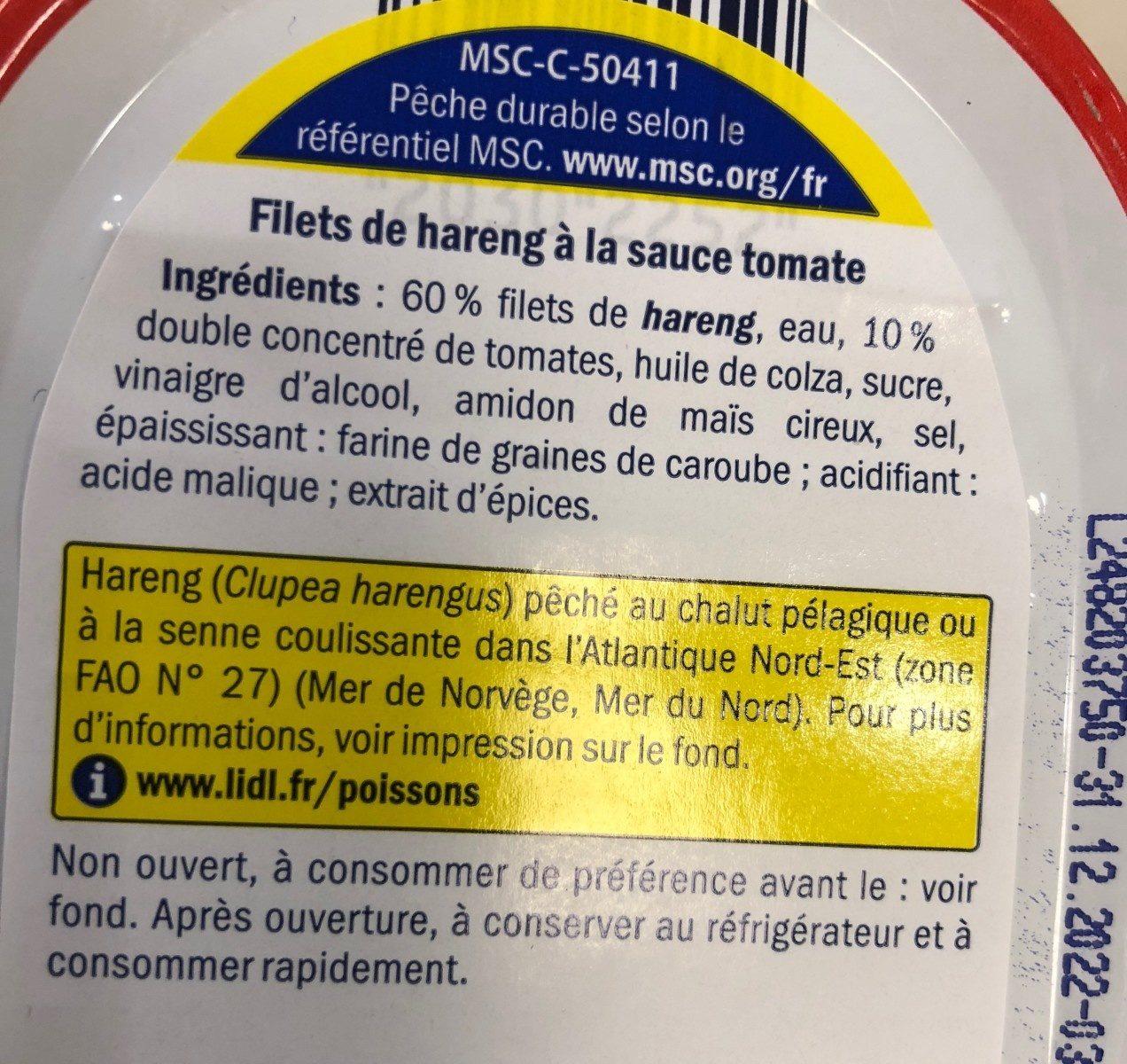 Heringsfilet In Tomatensauce / Fischerstolz - Voedigswaarden