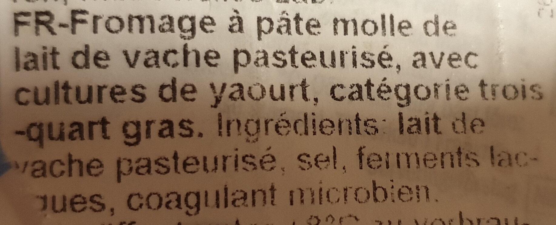 Doux et crémeux 39% Fett i. Tr. - Ingredients
