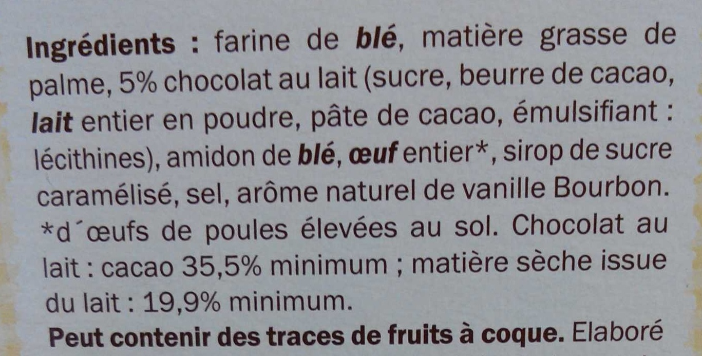 Liodoro Vanille - Ingrediënten
