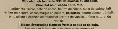 Mousse au chocolat noir - Ingrédients
