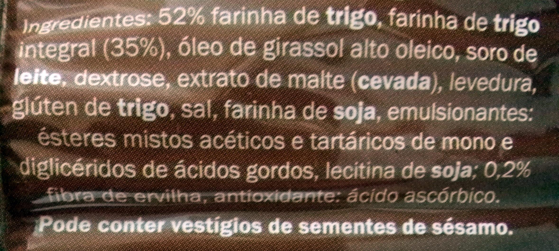 Tostas com farinha integral - Ingredients - pt
