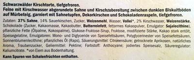 Schwarzwälder Kirschtorte - Ingrediënten - de