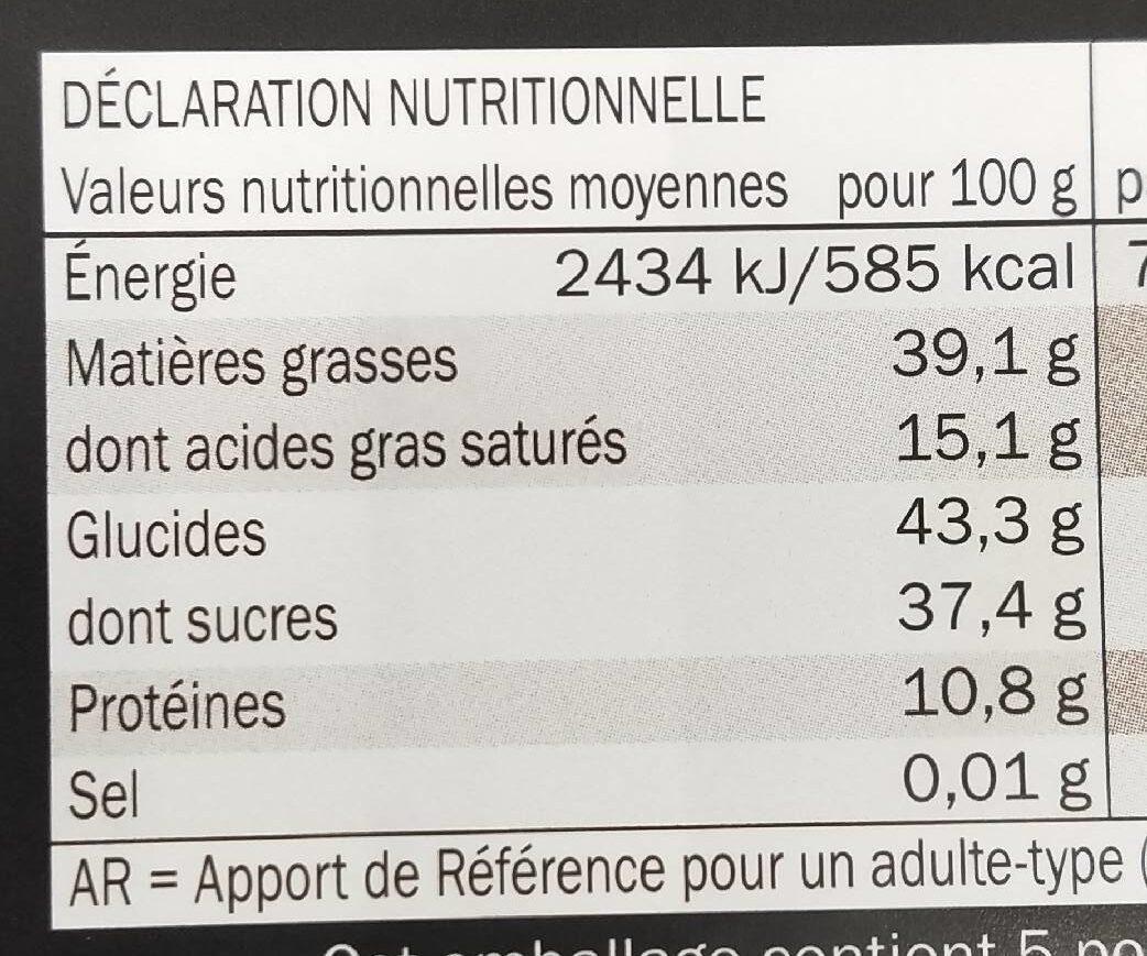La spéciale 32% d'amandes - Nutrition facts - fr