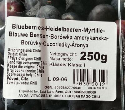 Oaklands blueberries (250g) - Produkt - de