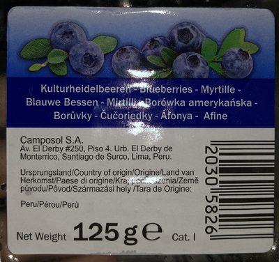 Myrtilles - Składniki - de