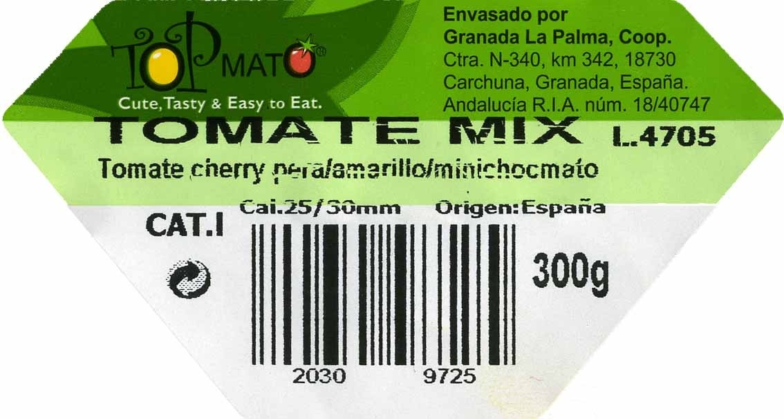 Tomates cherry mix - Ingredientes - es