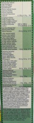 Crunchy hazelnut musli - Хранителна информация - bg