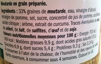 Moutarde en grain préparée - Voedingswaarden