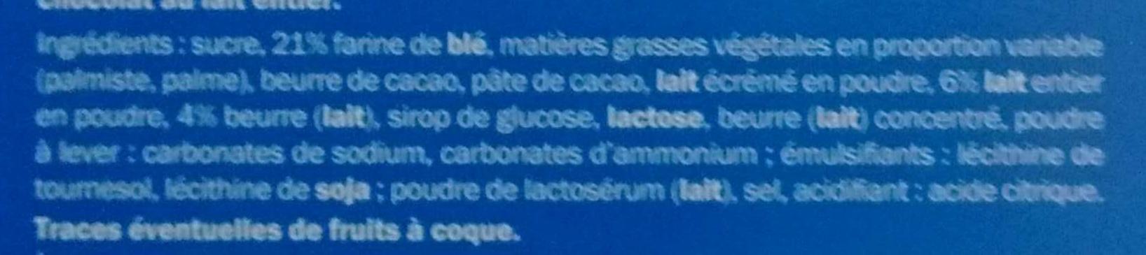 Biscino coeur fondant au lait - Ingrediënten