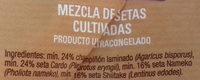 Mezcla de setas - Ingredients