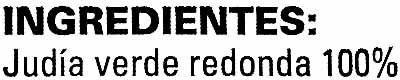 Judía verde redonda - Ingrédients